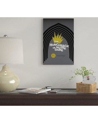 """East Urban Home 'The Hunchback Of Notre Dame By Robert Wallman' By Creative Action Network Graphic Art Print on Wrapped Canvas FVNF4491 Size: 18"""" H x 12"""" W x 0.75"""" D"""