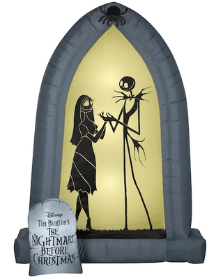 7Ft Airblown® Inflatable Halloween Disney® Jack & Sally Arch By Gemmy Industries | Michaels®
