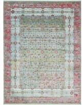 Bungalow Rose Lonerock European Pink/Teal Area Rug BGRS2212 Rug Size: Rectangle 10' x 13'