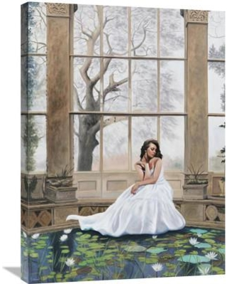 """Global Gallery 'The Nymphaeum' by Pierre Benson Painting Print on Wrapped Canvas GCS-395049 Size: 32"""" H x 24"""" W x 1.5"""" D"""