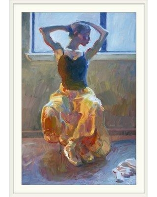 """Great Big Canvas 'Seated Dancer' by John Asaro Painting Print 1402857 Size: 32"""" H x 24"""" W x 1"""" D Format: White Framed"""