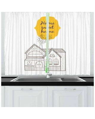 """Saying 55"""" Kitchen Curtain East Urban Home"""