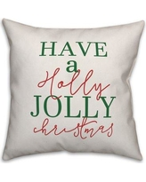 Jaxn Blvd Have a Holly Jolly Christmas Throw Pillow 5197-K