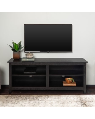 "Manor Park Wood TV Media Storage Stand for TV's up to 64"" - Black"