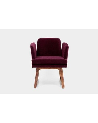 ARTLESS Allison Sled Base Upholstered Dining Chair A-A-2- Upholstery Color: Eggplant