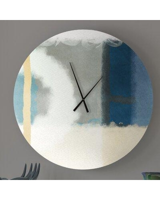 Find The Best Deals On Ebern Designs Helpful Impartial Abstract Metal Wall Clock Metal In Green Size Large Wayfair D7dc5f50ba1f493991f1eae3a4f3999d