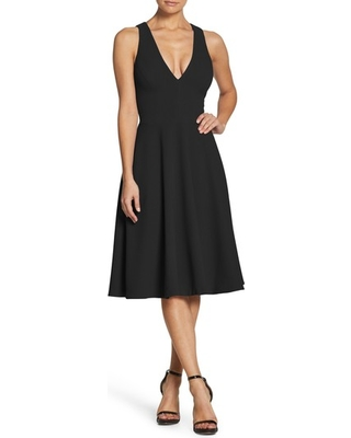 Women's Dress The Population Catalina Fit & Flare Dress, Size X-Small - Black