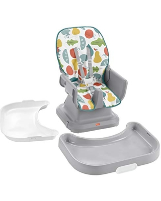 Fisher-Price SpaceSaver Simple Clean High Chair, Portable Infant-to-Toddler Dining Chair & Booster Seat with Easy Clean Up Features