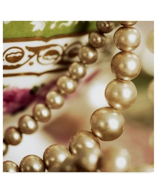 Trademark Fine Art 'Antique Cup With Pearls' Canvas Art by Tom Quartermaine