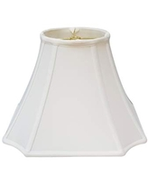 Royal Designs Square Inverted Cut Corner Basic Lamp Shade, White, 8 x 18 x 13