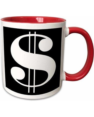 East Urban Home Dollar Sign Against a Background Coffee Mug W000651694 Color: Red
