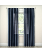 "Stitched Edge Curtain Panel Navy (Blue) (54""x 84"") - Threshold"