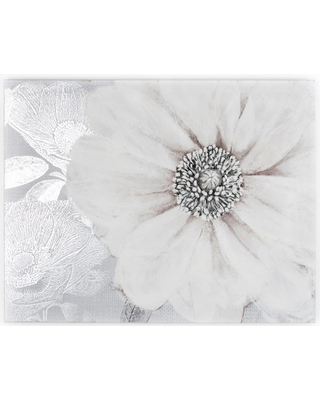 """Graham & Brown 31 in. x 24 in. """"Gray Bloom"""" by Graham and Brown Printed Canvas Wall Art"""