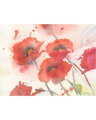 """Trademark Art """"Swaying Red Poppies"""" Canvas Art by Shelia Golden"""