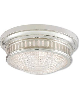 "Loon Peak Capitola 3-Light Flush Mount LOON7705 Fixture Finish: Brushed Nickel Size: 6.5"" H x 15"" D"