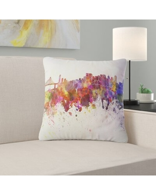 Here S A Great Deal On Cityscape San Francisco Skyline Pillow East Urban Home Size 18 X 18 Product Type Throw Pillow
