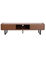 Safavieh Couture Collection Rocky Walnut Wood (75-inch Flat Screen) TV Stand