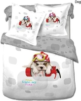 Le Vele Dog 4 Piece Twin Duvet Cover Set LE454T