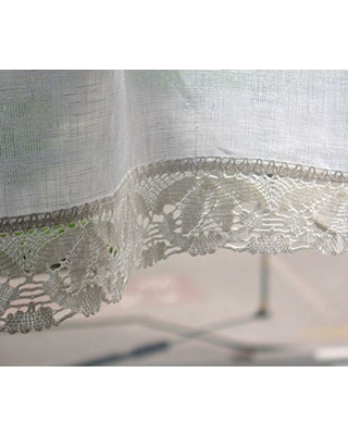 IniAvei Handmade Vintage Lace Curtains Cafe Curtains Washed Linen White  Kitchen Curtains Lace from Amazon | People