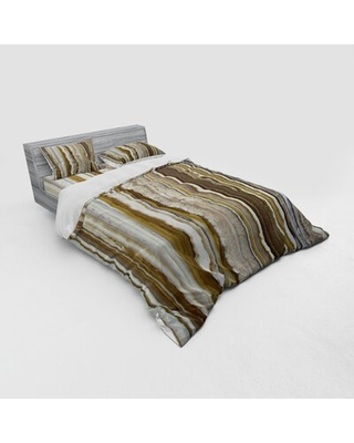 Marble Duvet Cover Set East Urban Home Size: Queen Duvet Cover + 3 Additional Pieces