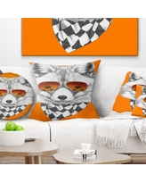 Spectacular Deals On Animal Funny Rabbit With Sunglasses Pillow East Urban Home Size 16 X 16 Product Type Throw Pillow