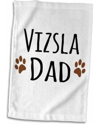 Symple Stuff Maclachlan Vizsla Dog Dad Doggie by Breed Muddy Paw Prints Doggy Lover Proud Pet Owner Love Hand Towel W000567434