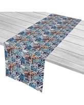 """Island Girl Home Surfer Surfing Patchwork Table Runner IGH-TR36 Size: 16"""" W x 90"""" L"""