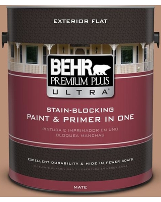 BEHR Premium Plus Ultra 1 gal. #BXC-46 Mojave Dusk Flat Exterior Paint and Primer in One