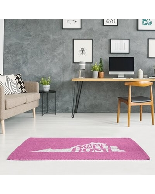 Virginia Home Sweet Home Pink Area Rug East Urban Home Rug Size: Rectangle 5' x 7'