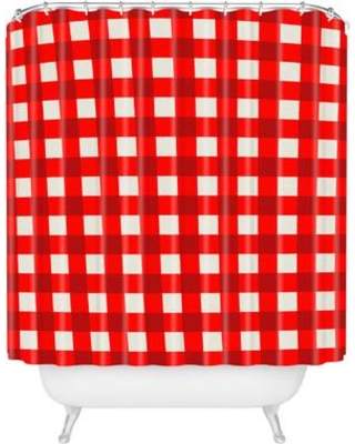 Brayden Studio Edwidge Gingham Single Shower Curtain BRSD9453