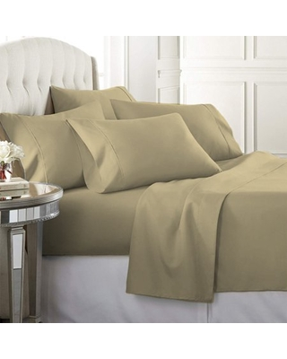 Luxury Home Super-Soft 1600 Series Double-Brushed 3 Pcs Bed Sheets Set (Twin, Khaki)