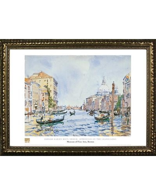 Buy Art For Less Museum Masters 'Afternoon on the Grand Canal' by Edward Darley Boit Framed Painting Print IF MFA04G