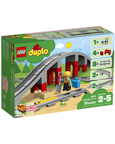 LEGO DUPLO Town - Train Bridge and Tracks - Trains & Vehicles for Ages 2 to 5 - Fat Brain Toys