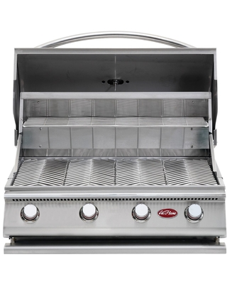 Cal Flame Gourmet Series Built-In 4-Burner Gas BBQ Grill (Silver)