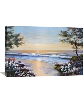 """Global Gallery 'Ocean Breeze' by Diane Romanello Painting Print on Wrapped Canvas GCS-393965 Size: 24"""" H x 36"""" W x 1.5"""" D"""