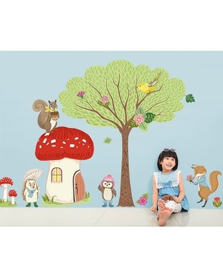Woodland Animal Friends Peel and Place Wall Decals GreenBox Art