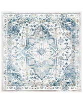 Don T Miss Sales On Canika Oriental Red Light Blue Area Rug World Menagerie Rug Size Square 6 7