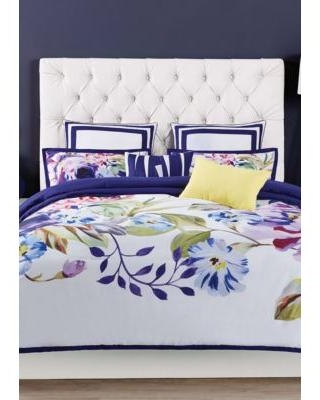 Christian Siriano Blue Group Garden Bloom Duvet Set