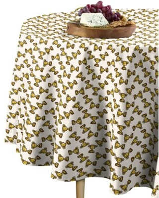 """Geometric Round Tablecloth East Urban Home Size: 84"""" x 84"""""""