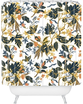 Autumnal Nature I Shower Curtain Blue - Deny Designs
