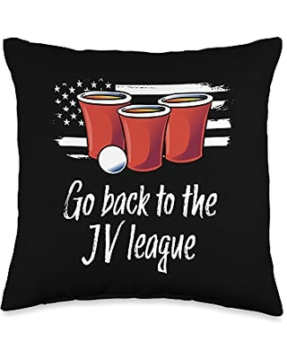 Beer Pong Gift for Men or Women - Funny Beer Pong Throw Pillow
