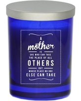 "Carved Solutions Gem ""Mother's Place"" Jar Candle WXH1395 Color: Sapphire"