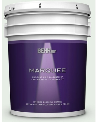 BEHR MARQUEE 5 gal. #460C-1 Aegean Mist Eggshell Enamel Interior Paint and Primer in One