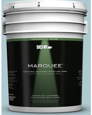 BEHR MARQUEE 5 gal. Home Decorators Collection #HDC-SM14-8 Floating Blue Semi-Gloss Enamel Exterior Paint & Primer