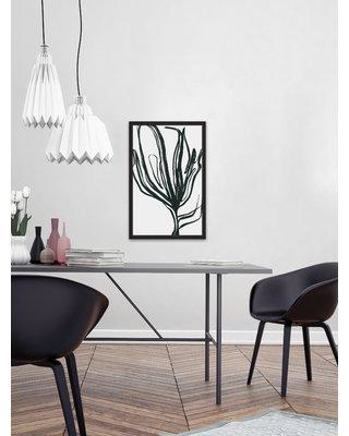 """Orren Ellis 'Indescribable' Framed Watercolor Painting Print on Paper ORNE6430 Size: 24"""" H x 16"""" W"""