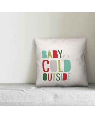 Decicco Baby It's Cold Outside Throw Pillow