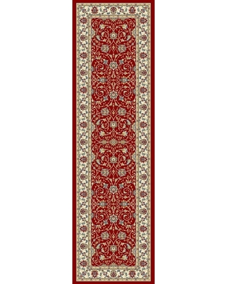 Home Decorators Collection Vaughan Red/Ivory 2 ft. x 8 ft. Indoor Runner Rug