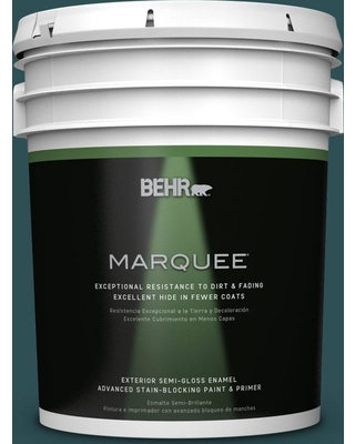 BEHR MARQUEE 5 gal. #ecc-14-3 Otter Creek Semi-Gloss Enamel Exterior Paint and Primer in One