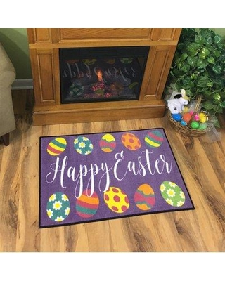 The Holiday Aisle Coleman Easter Decorations Purple/Green/Yellow Area Rug X111066011 Rug Size: Rectangle 4' x 6'