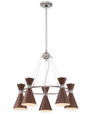 George Kovacs® Conic 5-Light Chandelier with Brushed Nickel Finish
